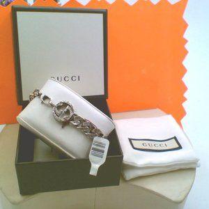 Gucci 925 Sterling Silver Interlocking GG Bracelet